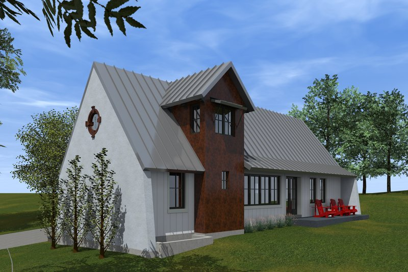 Cottage Style House Plan - 2 Beds 1 Baths 1280 Sq/Ft Plan #933-9 Exterior - Other Elevation
