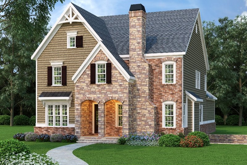 Traditional Exterior - Front Elevation Plan #419-246