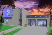 Modern Style House Plan - 3 Beds 2.5 Baths 2253 Sq/Ft Plan #518-5 Exterior - Front Elevation