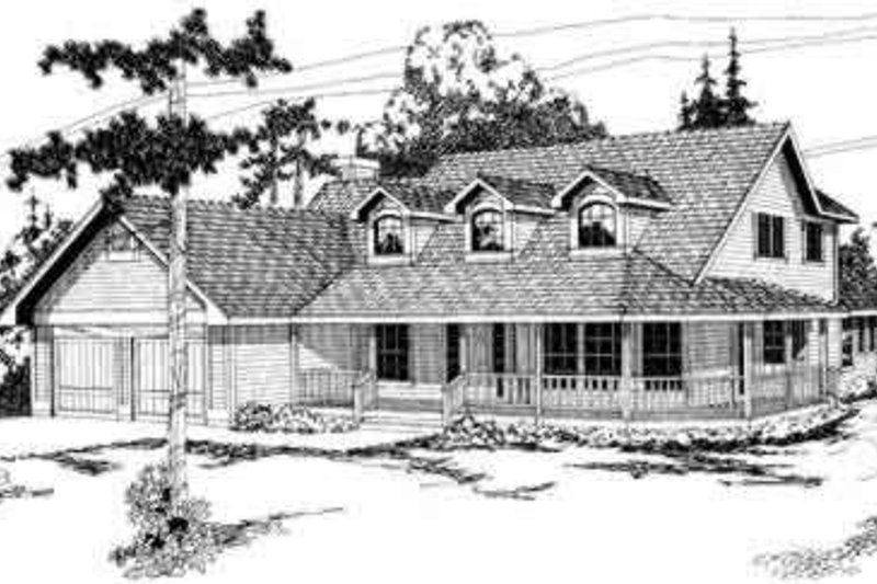 Dream House Plan - Traditional Exterior - Front Elevation Plan #124-138