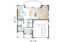 Main Floor Plan - 2600 square foot European home