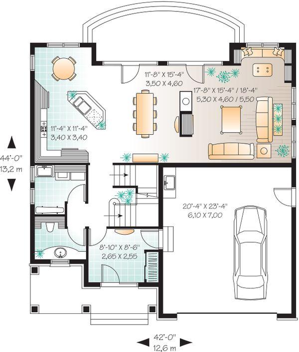 Dream House Plan - Main Floor Plan - 2600 square foot European home