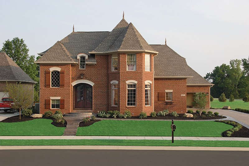 European Style House Plan - 4 Beds 5 Baths 5380 Sq/Ft Plan #458-3 Exterior - Front Elevation