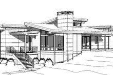 Modern Exterior - Other Elevation Plan #895-120