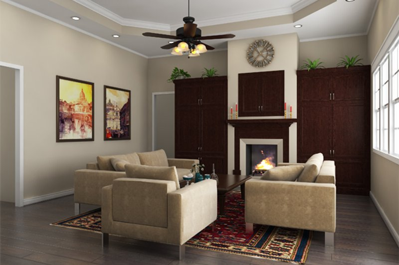Southern Interior - Family Room Plan #21-264 - Houseplans.com