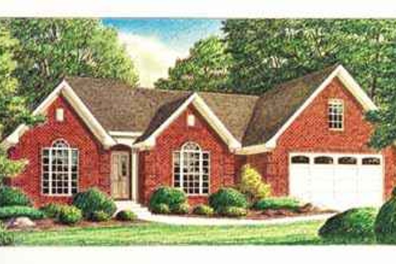 Southern Exterior - Front Elevation Plan #34-163