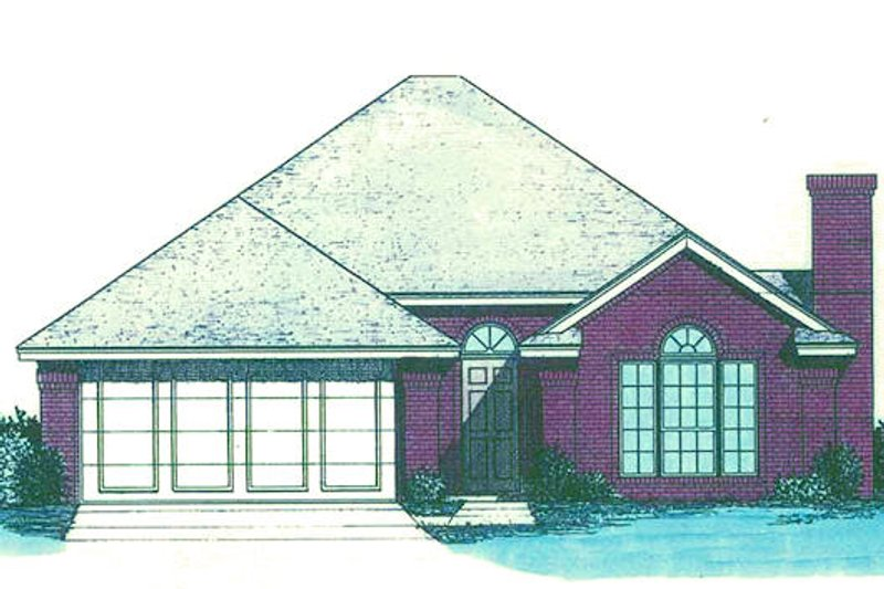 Traditional Style House Plan - 3 Beds 2 Baths 1260 Sq/Ft Plan #310-889 Exterior - Front Elevation