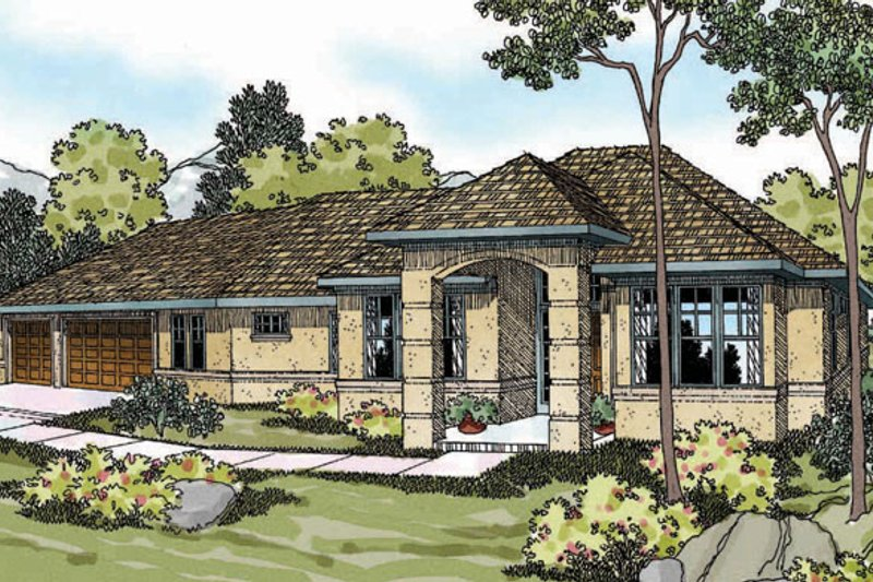Exterior - Front Elevation Plan #124-370 - Houseplans.com