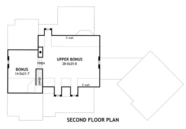Craftsman Floor Plan - Upper Floor Plan Plan #120-168