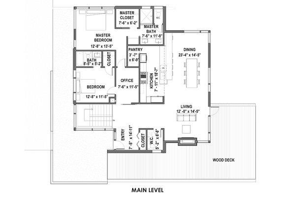 Modern Floor Plan - Main Floor Plan Plan #498-6