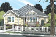 Cottage Style House Plan - 3 Beds 2 Baths 1271 Sq/Ft Plan #513-2043 Exterior - Front Elevation