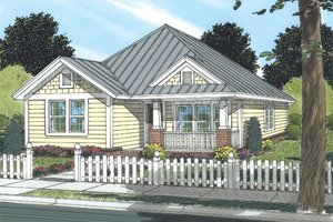 Cottage Exterior - Front Elevation Plan #513-2043
