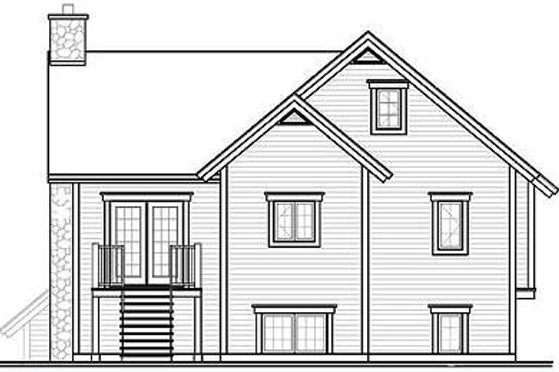 Traditional Exterior - Rear Elevation Plan #23-453 - Houseplans.com