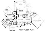 European Style House Plan - 3 Beds 4 Baths 3927 Sq/Ft Plan #120-182 Floor Plan - Main Floor Plan