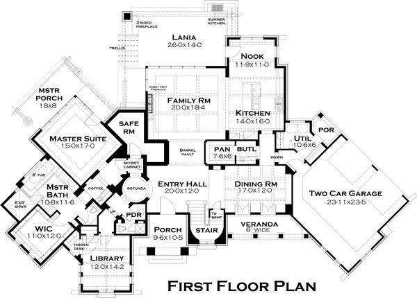 European Floor Plan - Main Floor Plan Plan #120-182