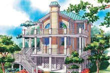 Home Plan - Country Exterior - Rear Elevation Plan #930-69