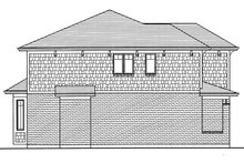 Architectural House Design - Left Side Elevation