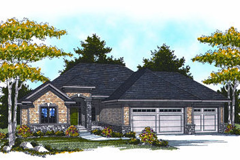 Architectural House Design - Ranch Exterior - Front Elevation Plan #70-864