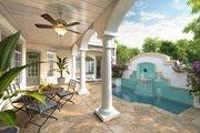 Mediterranean Style House Plan - 4 Beds 3.5 Baths 3225 Sq/Ft Plan #938-25 Exterior - Outdoor Living