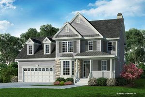 Dream House Plan - Country Exterior - Front Elevation Plan #929-596