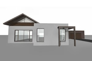 Modern Exterior - Front Elevation Plan #496-4