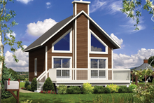 House Design - Cabin Exterior - Front Elevation Plan #25-4274