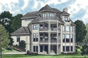 Traditional Style House Plan - 5 Beds 5.5 Baths 7017 Sq/Ft Plan #453-48 Exterior - Rear Elevation