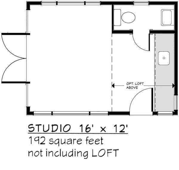 Modern Floor Plan - Main Floor Plan #917-30