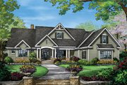 Craftsman Style House Plan - 4 Beds 3 Baths 2863 Sq/Ft Plan #929-7 Exterior - Front Elevation
