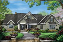 Dream House Plan - Craftsman Exterior - Front Elevation Plan #929-7