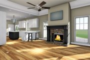 Craftsman Style House Plan - 3 Beds 2 Baths 1587 Sq/Ft Plan #44-234 Interior - Family Room