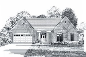 Traditional Exterior - Front Elevation Plan #424-90