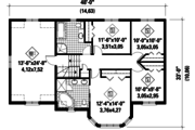 European Style House Plan - 4 Beds 2 Baths 2330 Sq/Ft Plan #25-4418 Floor Plan - Upper Floor Plan