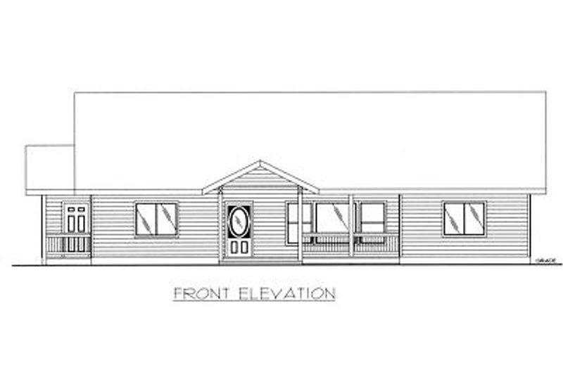 Cabin Exterior - Other Elevation Plan #117-513 - Houseplans.com
