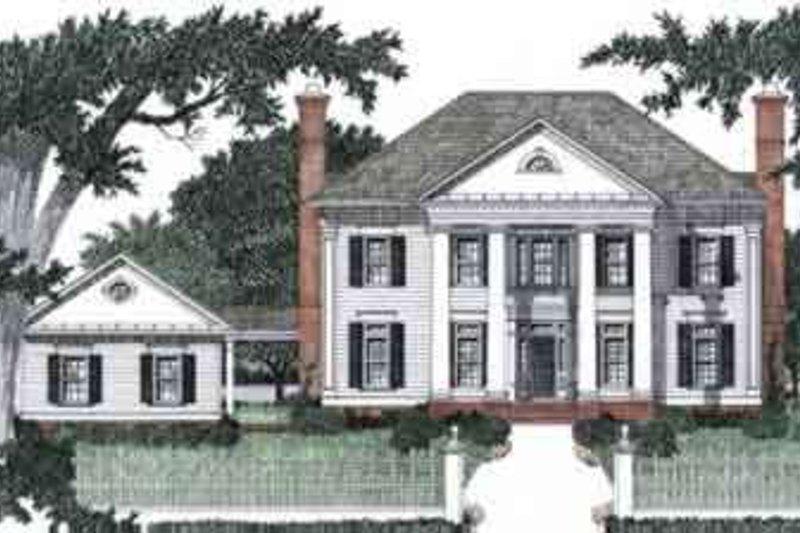 Southern Style House Plan - 4 Beds 4.5 Baths 3435 Sq/Ft Plan #129-159