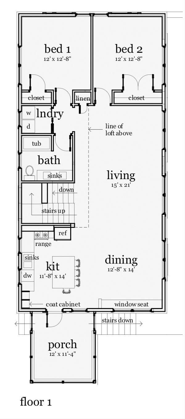 Farmhouse Floor Plan - Main Floor Plan Plan #64-215