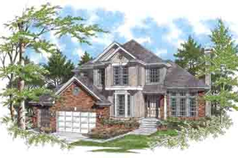 Traditional Exterior - Front Elevation Plan #48-228