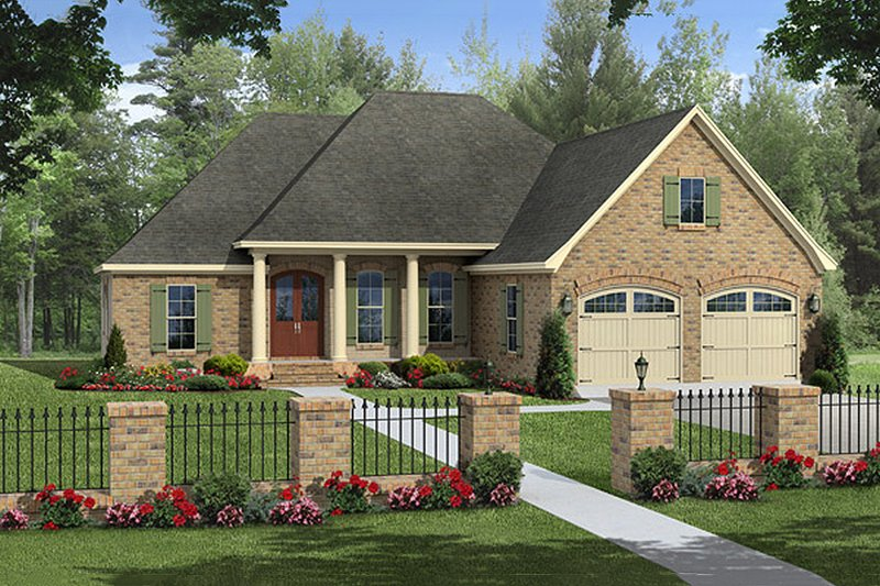 Home Plan - Traditional style home, European design, elevation