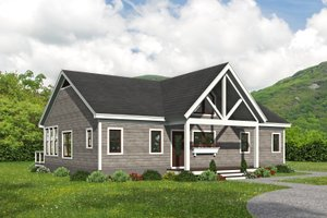 Country Exterior - Front Elevation Plan #932-396