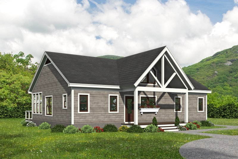 House Plan Design - Country Exterior - Front Elevation Plan #932-396