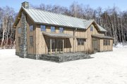 Cabin Style House Plan - 3 Beds 2 Baths 2197 Sq/Ft Plan #497-47 Exterior - Rear Elevation