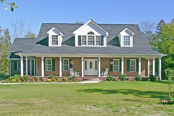 Southern Exterior - Front Elevation Plan #456-14