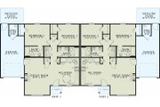 Traditional Style House Plan - 2 Beds 1 Baths 2024 Sq/Ft Plan #17-2432 Floor Plan - Main Floor Plan