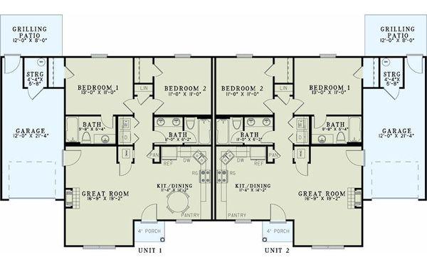 Traditional Floor Plan - Main Floor Plan Plan #17-2432