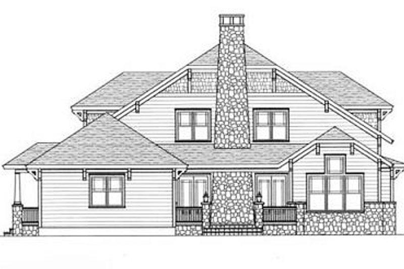 Craftsman Exterior - Rear Elevation Plan #413-105 - Houseplans.com
