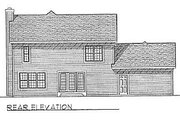Traditional Style House Plan - 3 Beds 2.5 Baths 1686 Sq/Ft Plan #70-171 Exterior - Rear Elevation