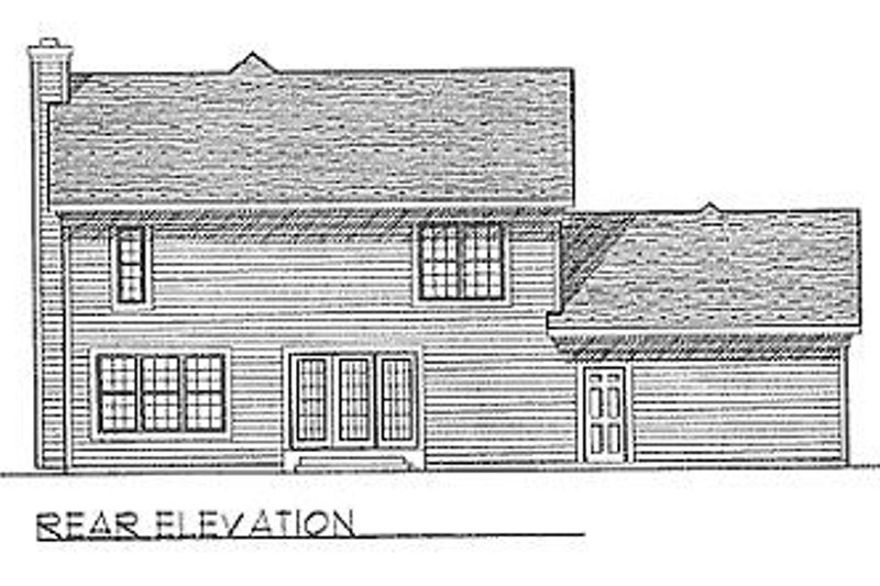 Traditional Exterior - Rear Elevation Plan #70-171 - Houseplans.com