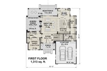 Farmhouse Floor Plan - Main Floor Plan Plan #51-1148