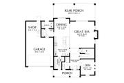 Contemporary Style House Plan - 4 Beds 2.5 Baths 2618 Sq/Ft Plan #48-986 Floor Plan - Main Floor