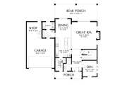 Contemporary Style House Plan - 4 Beds 2.5 Baths 2618 Sq/Ft Plan #48-986 Floor Plan - Main Floor